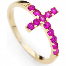 Amen Woman Ring Croce...