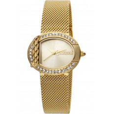 Cavalli Women's Watch Only Time Mesh Gold