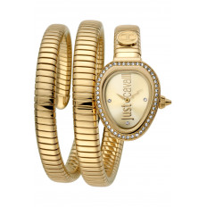 Just Cavalli Women's Watch Only Time Glam Chic Snake Gold