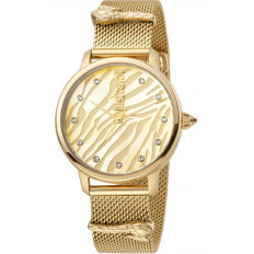 Just Cavalli Women's Watch Only Time Animalier Mesh