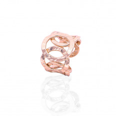 Unoaerre Ring Woman Bronze Collection Chain Hammered Rosè 1744