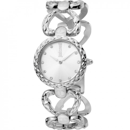 Just Cavalli Women's Watch Only Time Animalier Silver