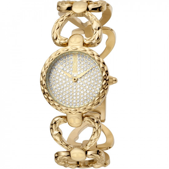 Just Cavalli Women's Watch Only Time Animalier Gold Crystals