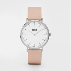 Cluse Watch Only Time Woman Silver White/Nude La Bohème