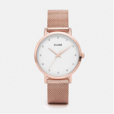 Cluse Watch Only Time Woman Rose Gold Pavane Collection