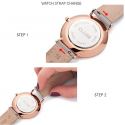 Cluse Watch Only Time Woman Rose Gold White/Black Minuit
