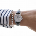 Cluse Watch Only Time Woman Silver Black/Silver La Vedette