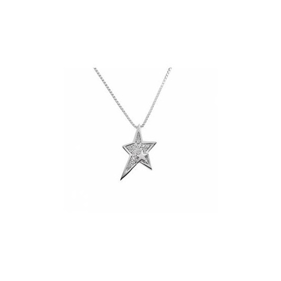 Thierry Mugler Women's Necklace Star ad White Crystal