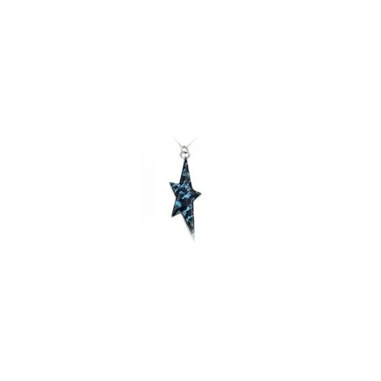 Thierry Mugler Women's Necklace with Pendant Blue Enamel Star