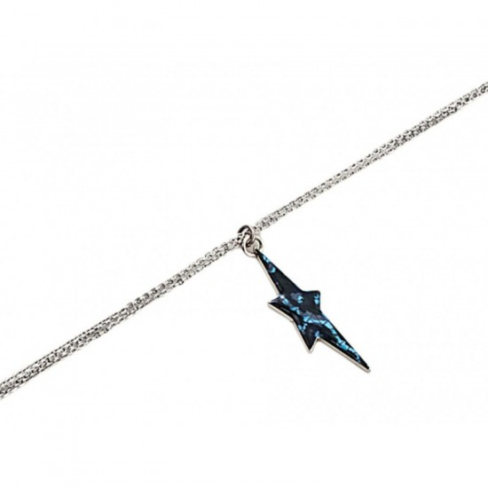 Thierry Mugler Women's Bracelet with Pendant Blue Enamel