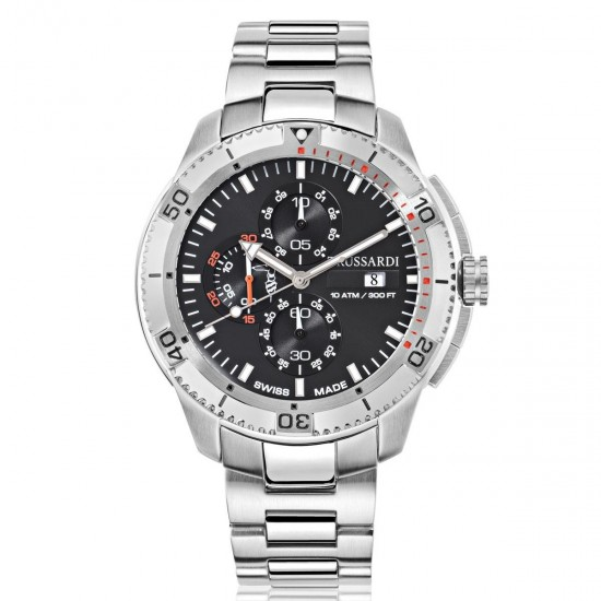 Trussardi Watch Chronograph Man Sportive Collection Silver