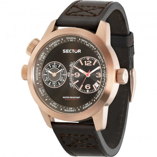 Sector Watch Multifunction Dual Time Oversize Collection
