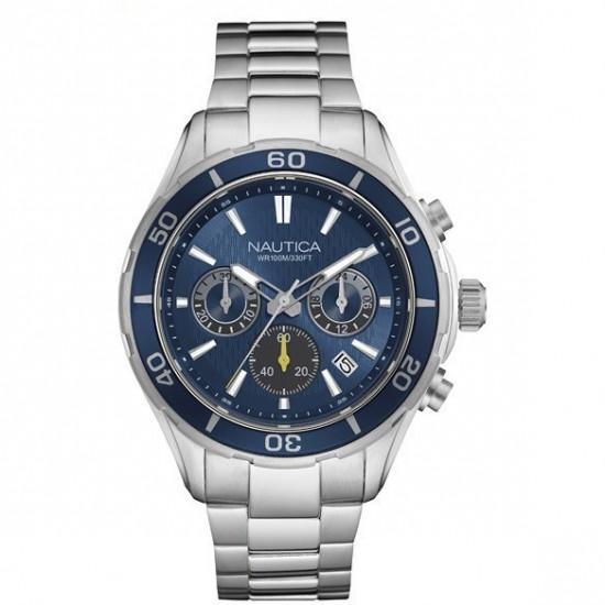 Nautica Watch Man Chronograph Silver