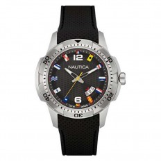 Nautica Watch Man Only Time Ncs 16 Flags Collection Black