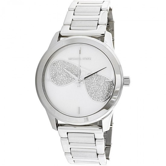 Michael Kors Women's Only Time Silver Dial Crystal