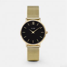 Cluse Watch Woman Only Time Gold/Black Minuit Collection