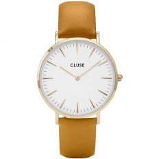 Cluse Watch Only Time Woman Gold White/Mustard La Bohème