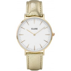 Cluse Watch Only Time Woman Gold/White Metallic La Bohème