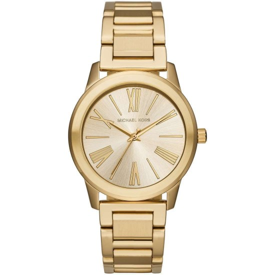online store f33cf e8e15 Michael Kors Unisex Watch Only Time Hartman Collection Gold