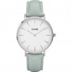 Cluse Watch Only Time Woman White/Pastel Mint La Bohème