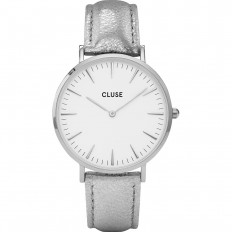 Cluse Watch Only Time Woman Silver/White Metallic La Bohème