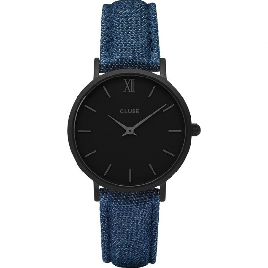 Cluse Watch Only Time Woman Black/Blue Denim Minuit Collection