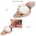 Cluse Watch Only Time Woman Gold Rose/White Metallic Minuit