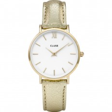 Cluse Watch Only Time Woman Gold/White Metallic Minuit
