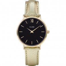 Cluse Watch Only Time Woman Gold/Black Metallic Minuit
