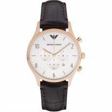 Armani Orologio Uomo Cronografo Gold Rose White/Brown