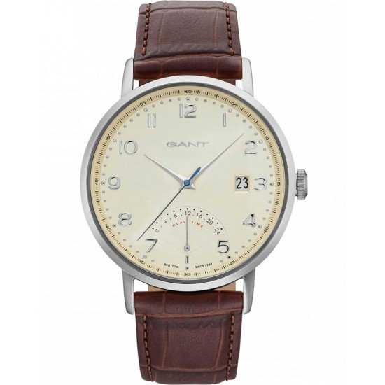 Gant Watch Man Only Time Pennington Collection Brown Silver