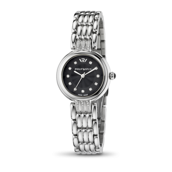 Philip Watch Watch Woman Only Time Ginevra Collection Black
