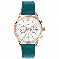Henry London Watch Man Chronograph Stratford Collection Teal