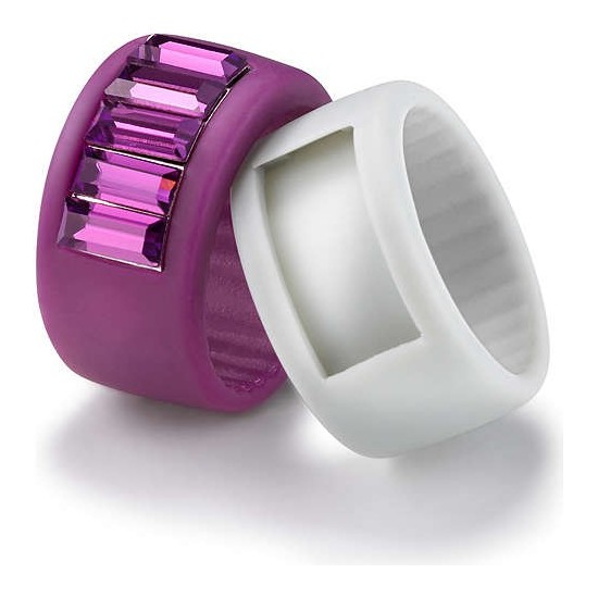 Hip Hop Ring Woman Eternity Collection Purple