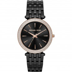 Michael Kors Women's Only Time Rose Gold and Black