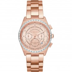 Michael Kors Watch Woman Chronograph Rose Gold and Crystals