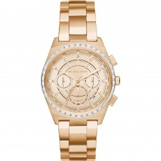 Michael Kors Watch Woman Chronograph Gold and Crystals
