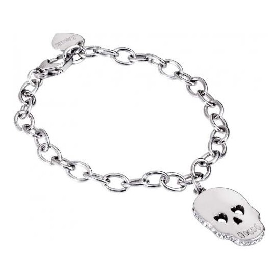 2Jewels Bracelet Woman Skull and Crystals