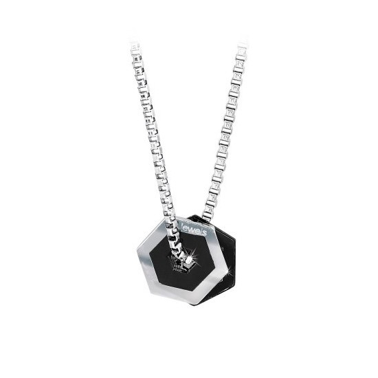 2Jewels Necklace Unisex Hexagon Collection