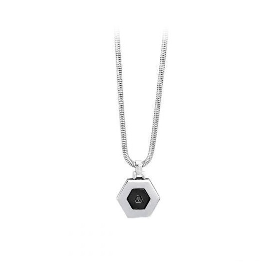 2Jewels Necklace Unisex Hexagon Collection Black