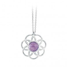 2Jewels Necklace Woman Purple Flower