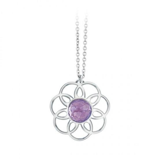 2Jewels Necklace Woman Purple Flower