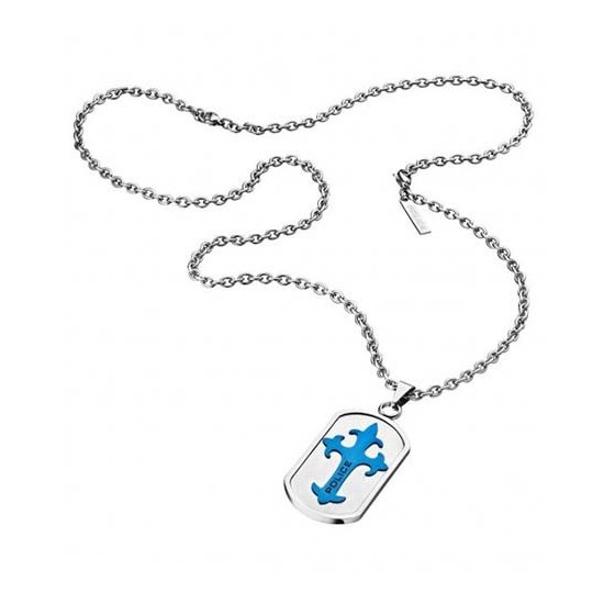Police Necklace Man Access Collection Blue