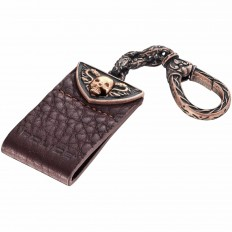 Police Key Ring Unisex Cathedral Collection Brown