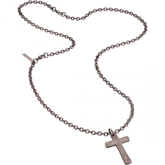 Police Necklace Man Cross Collection Rose Gold