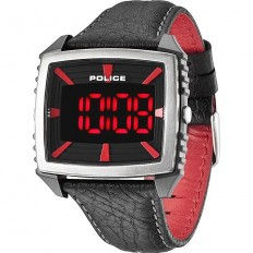Police Watch Man Digital Countdown Collection Red