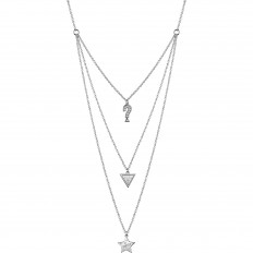 Guess Necklace Woman Feel Guess Collection Triple