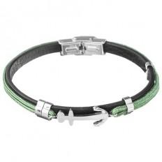 Lorenz Men's Bracelet Green/Anchor