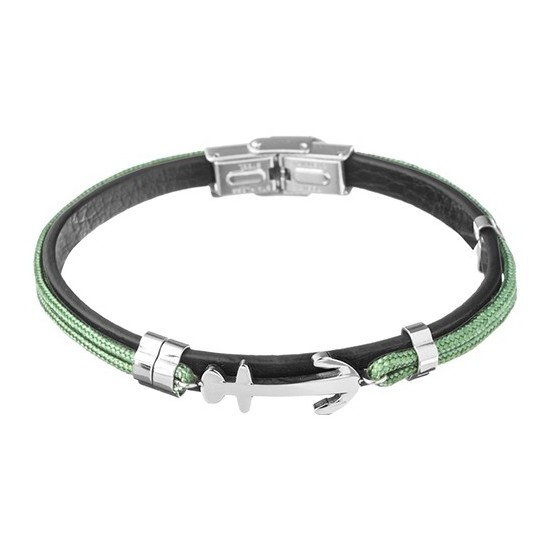 Lorenz Men's Bracelet Green/Anchor