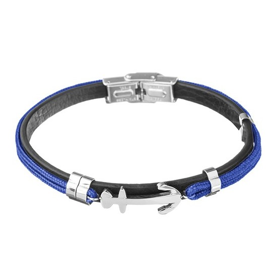 Lorenz Men's Bracelet Blue/Anchor